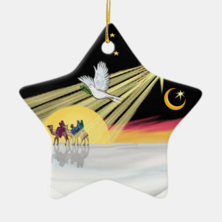 Chritmas Dove Ceramic Ornament