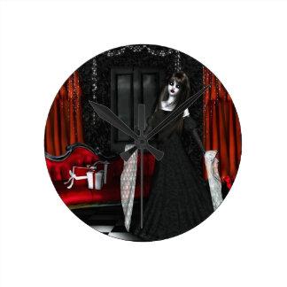 Chritmas gothic reloj de pared