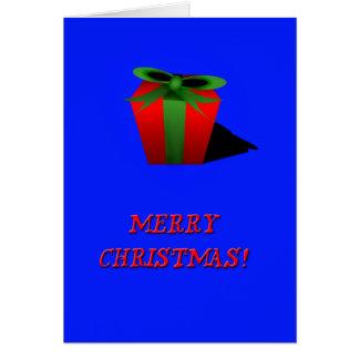 Chritsmas Gift-Blue Card