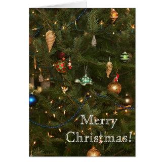 Chritsmas tree ornaments card