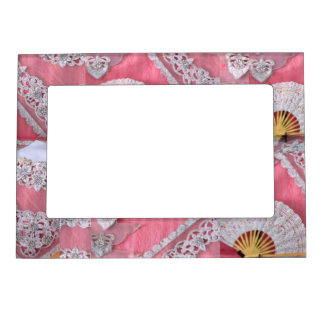 Chrochet and Bead work Magnetic Picture Frame
