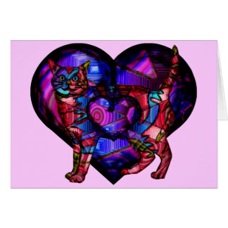 Chroma Calico Double Heart Card