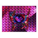 Chroma Calico Hearty Postcard