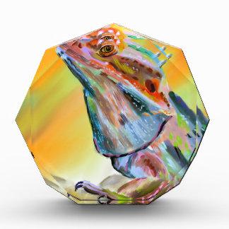 Chromatic Bearded Dragon Digital Paint Acrylic Award