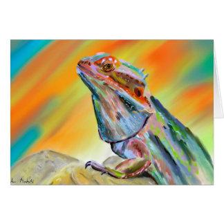 Chromatic Bearded Dragon Digital Paint Card