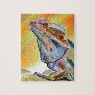Chromatic Bearded Dragon Digital Paint Jigsaw Puzzle