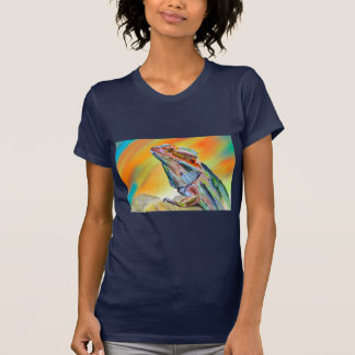 Chromatic Bearded Dragon Digital Paint T-Shirt
