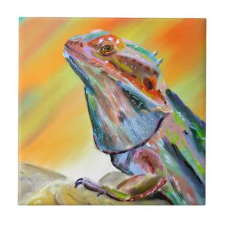 Chromatic Bearded Dragon Digital Paint Tile