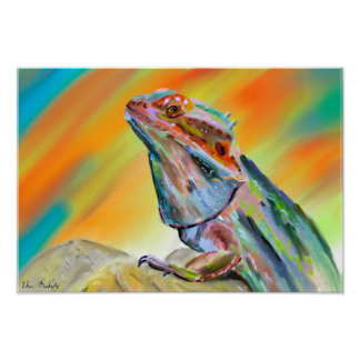 Chromatic Bearded Dragon Paint Poster