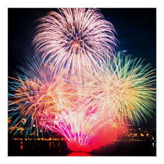 Chromatic Fireworks Poster