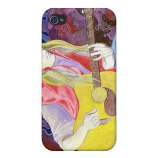 Chromatic Meanderings in Blue iPhone 4 Cover