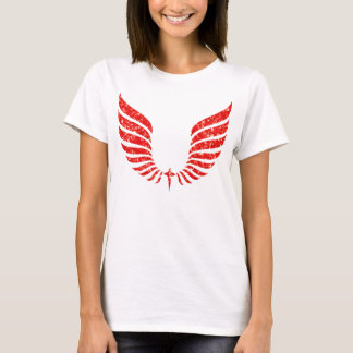 Chromatic Mosaic Abstract Wings T-Shirt