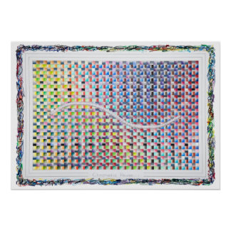 Chromatic Pause Optical Psychedelic Art Poster