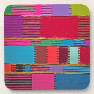Chromatic Quilt Drink Coaster