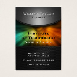 Color tech business cards templates zazzle chromatic technology elegant design with qr code business card colourmoves Image collections