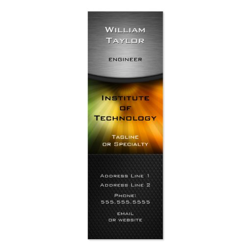 Chromatic Technology Elegant Design with QR code Business Card Template