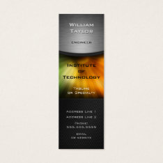 Chromatic Technology Elegant Design With Qr Code Mini Business Card at Zazzle