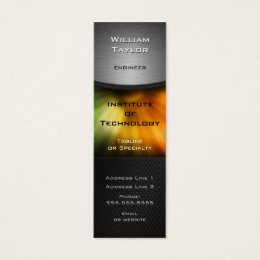 Color tech business cards templates zazzle chromatic technology elegant design with qr code mini business card colourmoves Image collections