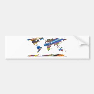 Chromatic World Map Bumper Sticker