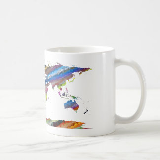 Chromatic World Map Coffee Mug