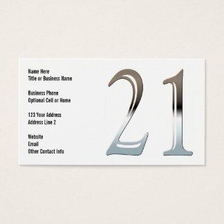 Chrome 21 business card