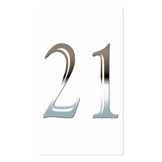 Chrome 21 business card templates