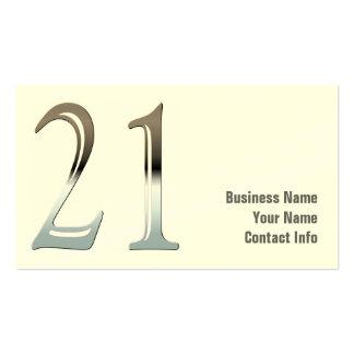 Chrome 21 business cards