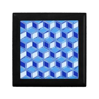 Chrome 3-d boxes - cobalt blue