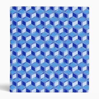Chrome 3-d boxes - cobalt blue 3 ring binder