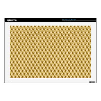 """Chrome 3-d boxes - gold colored 17"""" laptop skin"""