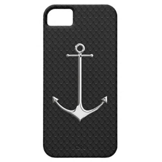 Chrome Anchor on Snake Skin Nautical Lifestyle iPhone SE/5/5s Case