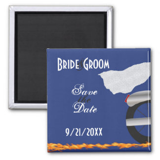 Chrome and Lace Biker Save the Date Magnet