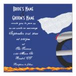 Chrome and Lace Biker Wedding Invitation