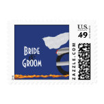Chrome and Lace Biker Wedding Postage