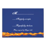 Chrome and Lace Biker Wedding RSVP 3.5x5 Paper Invitation Card