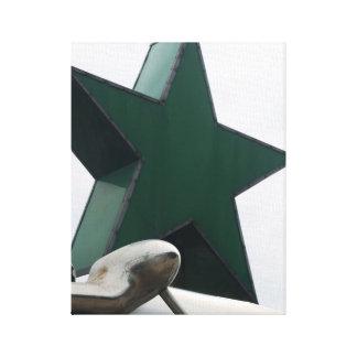 chrome and star canvas print