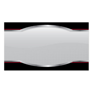 Chrome Beveled Layout Double-Sided Standard Business Cards (Pack Of 100)