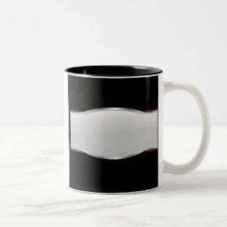 Chrome Beveled Layout Two-Tone Coffee Mug