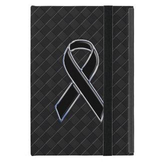 Chrome Black Ribbon Awareness Style Cover For iPad Mini