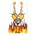 Chrome Black Widow 4 Design Double-Sided Standard Business Cards (Pack Of 100)