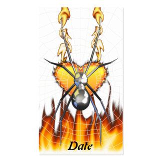 Chrome Black Widow 4 Design Business Card