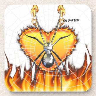 Chrome Black Widow 4 Design Coaster