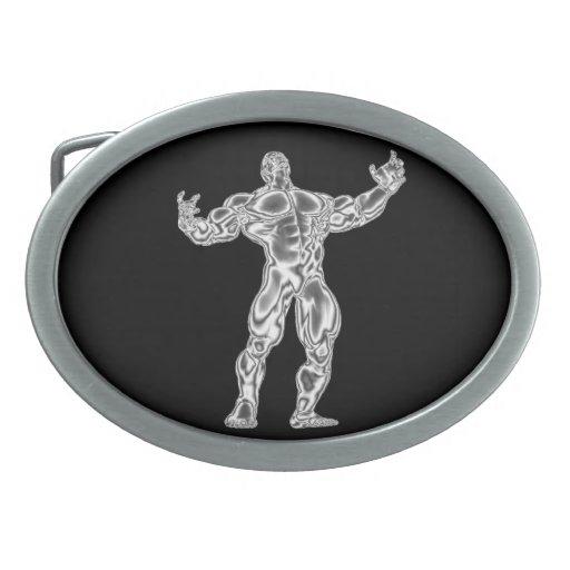 Chrome Bodybuilder Belt Buckle