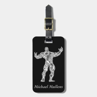 Chrome Bodybuilder Luggage Tag