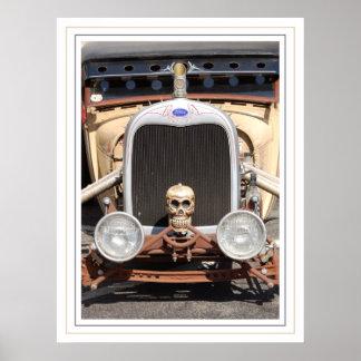 Chrome Bones (Striped Border) Poster