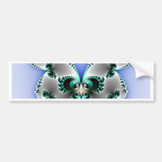 Chrome Butterfly Bumper Sticker