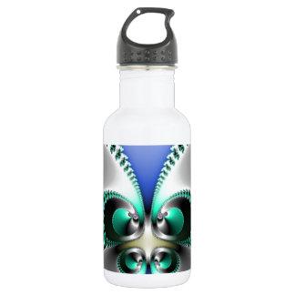 Chrome Butterfly Water Bottle