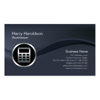 Chrome Calculator Icon Bookkeeper Business Card