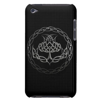 Chrome Celtic Knot Thistle Barely There iPod Case