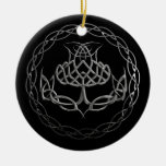 Chrome Celtic Knot Thistle Christmas Tree Ornament